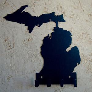 Michigan-Keychain-Holder