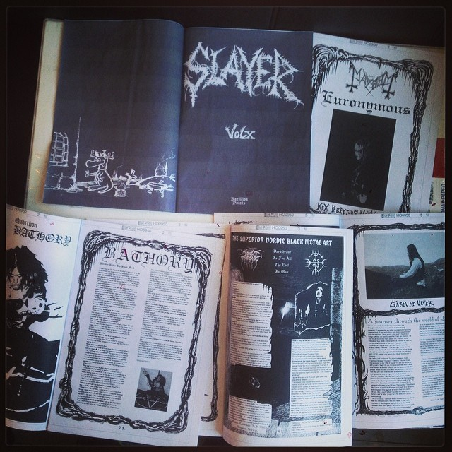 SLAYER MAG X reissue bluelines... Arne Babb and black metal in raw natural form.